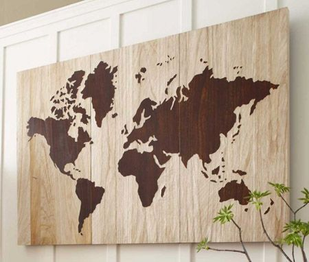 World Map Wall Art   Wall Decor   Home Accessories   VivaTerra I Like This  Idea For Mikaelau0027s Room To Track Where Her Dad Goes