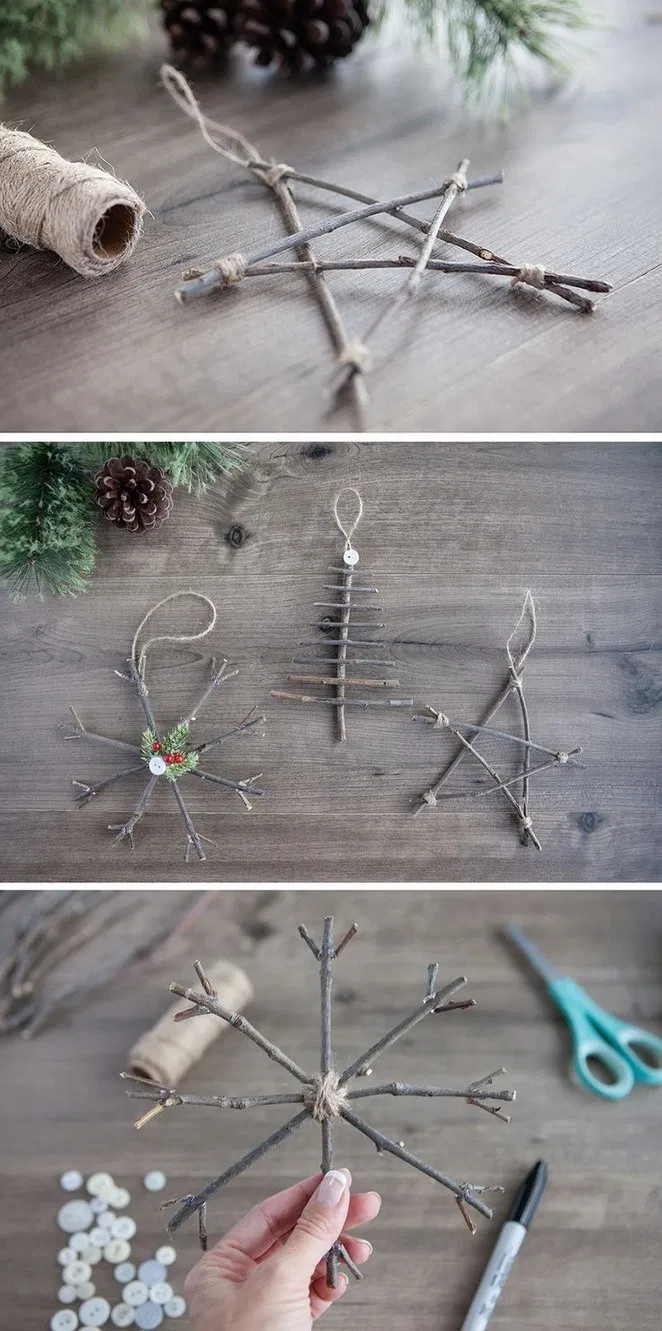 45+ Last Minute Rustic Christmas Decorations To Make More Perfect Your Home « pw9.org #kidshairaccessories