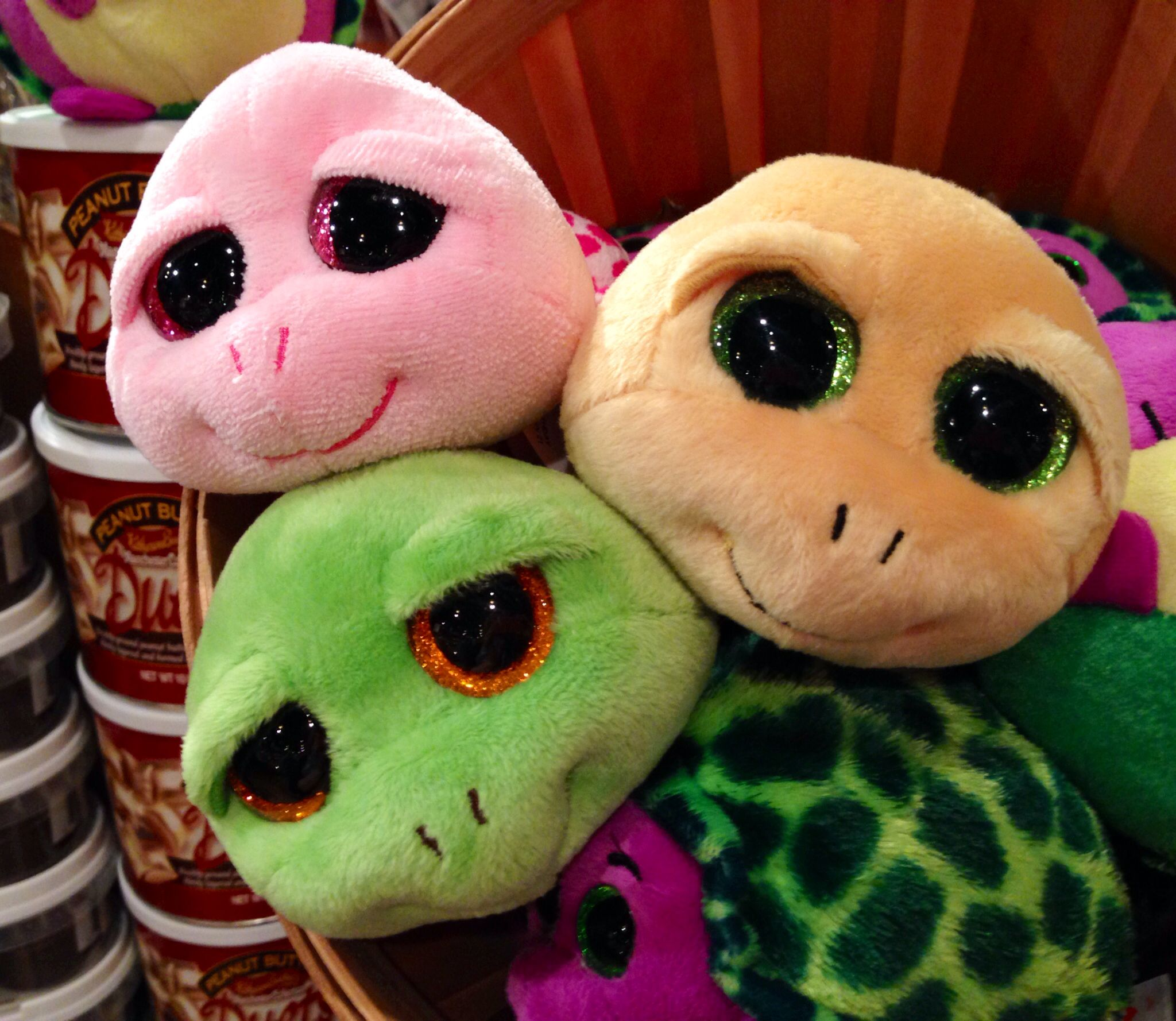 Turtle Beanie Boos Ty Pink Green Yellow Cracker Barrel Old