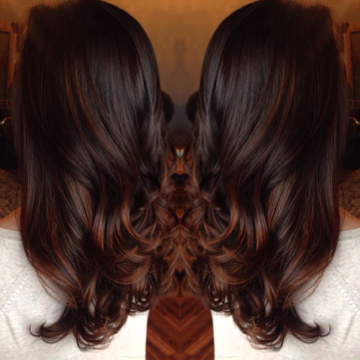 Rich Chocolate Brown Red Balayage Google Search Beautimous Color