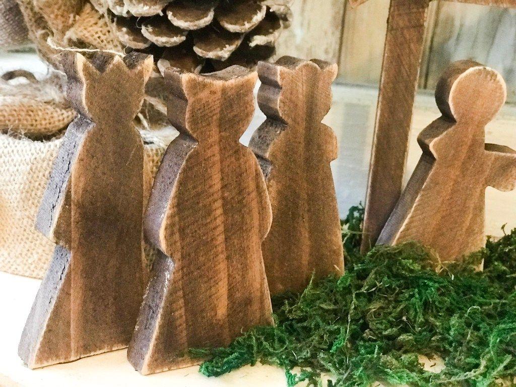 diy wooden nativity scene makeover ReFabbed Christmas