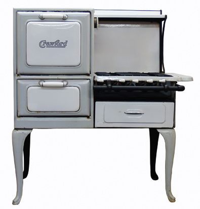 Crawford Insulated Retro Gas Antique Cook Stove In Gray