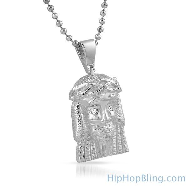 Clean micro jesus piece pendant 925 sterling silver top rappers clean micro jesus piece pendant 925 sterling silver aloadofball Image collections