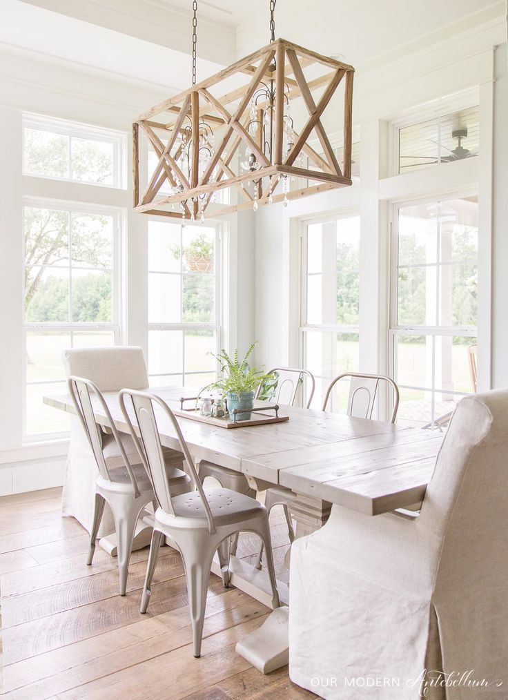 Bright White Home of Our Modern Antebellum Modern, Room and Dining - esszimmer modern weis grau