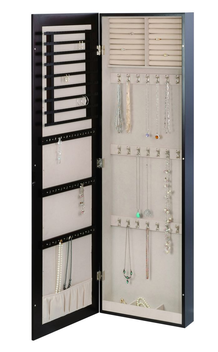 Proteus Wall Mounted Jewelry Armoire with Mirror