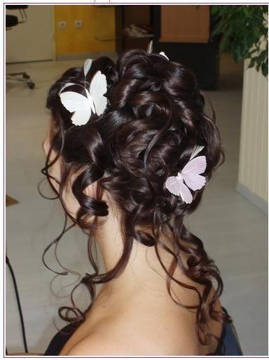Coiffure mariage cheveux fris s mi long coiffures mariage pinterest cheveux fris s - Cheveux frises mi long ...