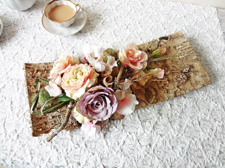 Birch Bark Table Centerpiece Rustic Wedding Decor Garden Party