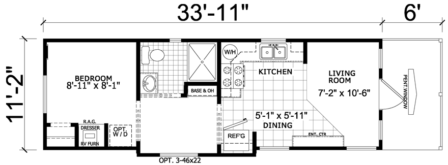 Whitewood 12 X 40 Park Model Rv Floor Plan Factory Expo Park Models Park Model Rv Granny Pods Floor Plans Rv Floor Plans
