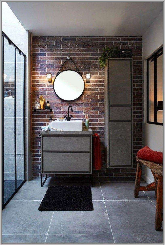 idees salle de bain brique rouge