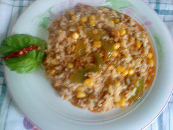 Zwergi's bunte Reispfanne - Rezept