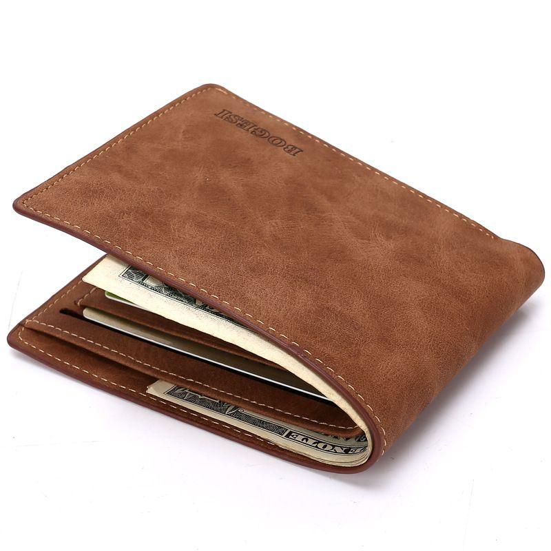5b964bdc64 Billeteras de hombre Top Pu de cuero Vintage del diseño del monedero ...