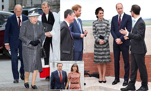 716a9987339 6 30 16 The Royal Family tonight led the nation in commemorating the  thousands of troops who lost their lives in the Battle of the Somme