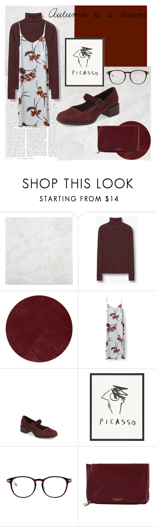 """""""Alexis #55"""" by lexlundy ❤ liked on Polyvore featuring SomerTile, MANGO, Burberry, Sanders and Camper"""
