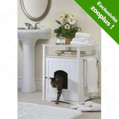maisonnette big pet room en bois pour chat - marron chat / maison