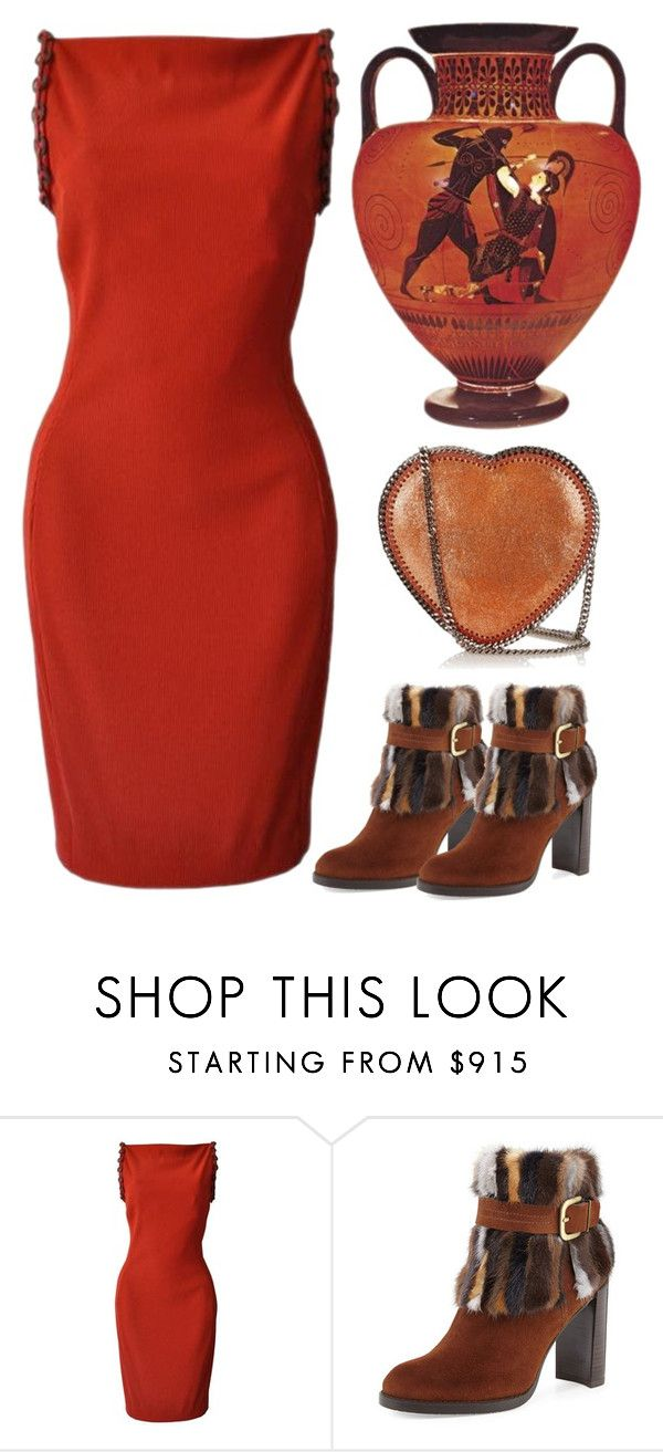 """""""Greek Inspired"""" by cowseatchard ❤ liked on Polyvore featuring Versace, Stuart Weitzman and STELLA McCARTNEY"""