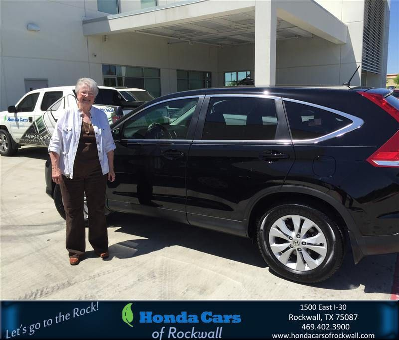 Congratulations to Delores Holloway on your #Honda #CR-V purchase from Scott Durkin at Honda Cars of Rockwall! #NewCar