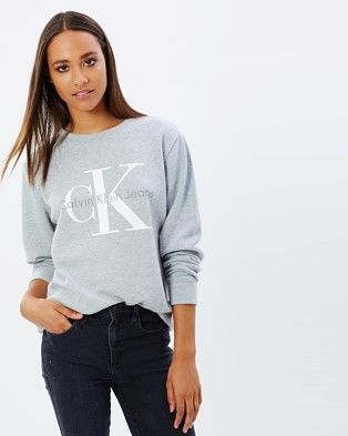 214500fce19d2 Buy Urban CK Logo Sweatshirt by Calvin Klein Jeans online at THE ICONIC.  Free and fast delivery to Australia and New Zealand.