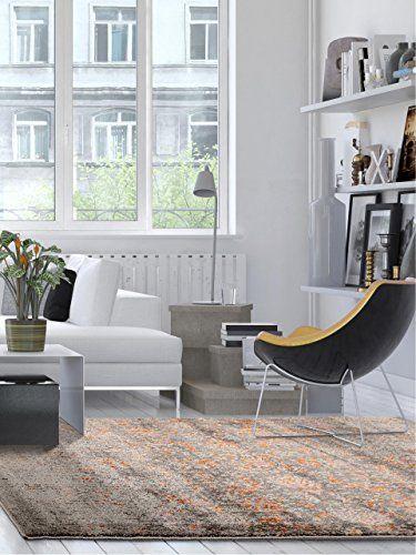 benuta Teppiche Moderner Designer Teppich Rossini Mystery Grau - moderne wohnzimmer teppiche