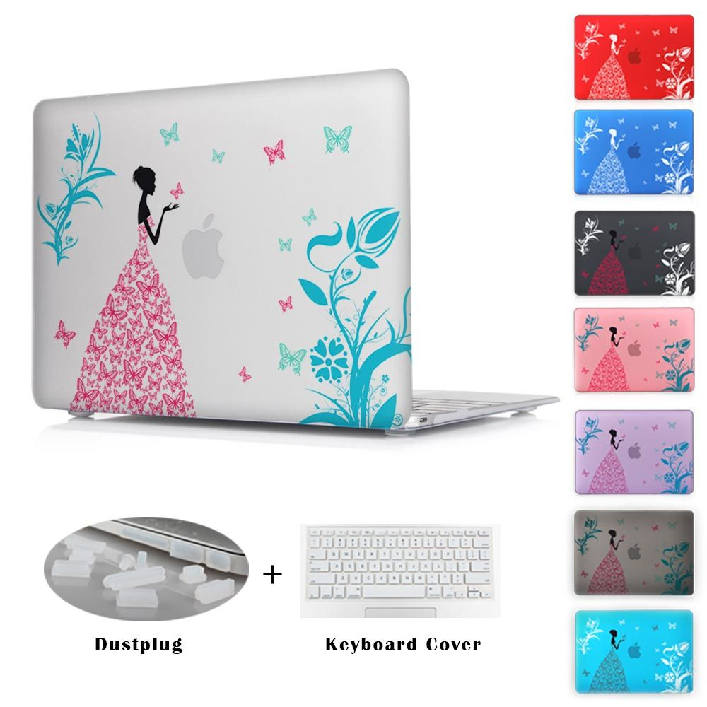 Fashion Color Print Cover For Apple Macbook Pro 13 15 Mac 12 With Retina Crystal Case Air 11 Butterfly Girl IPhone Covers Online