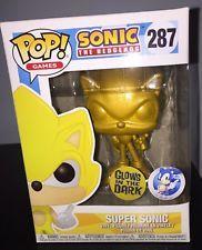 Sonic The Hedgehog Metallic Gold Super Sonic Pop Vinyl Figure Funko Custom Sega Sonic Sonic Birthday Parties Vinyl Figures