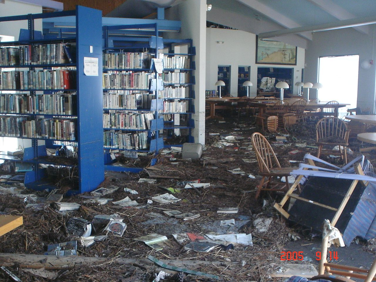 Photos Of Damage In Mississippi From Hurricane Katrina Disaster Plan Disaster Preparedness Abandoned Library