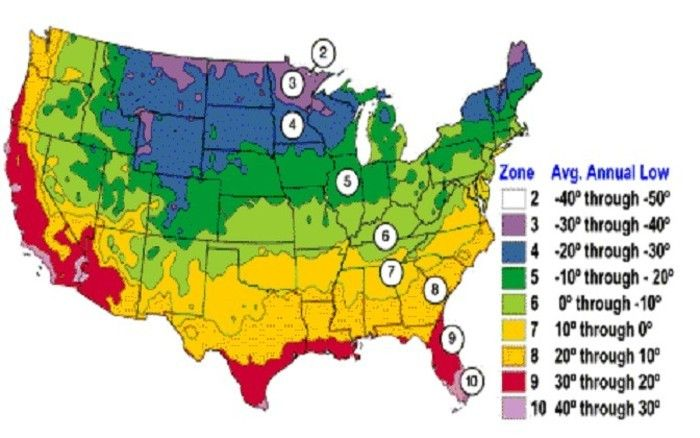 Plant Zones Map Average Us First And Last Frost Dates The - Planting-zone-map-of-us