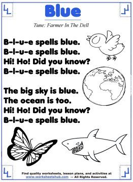 learn the color blue color songs preschool color songs. Black Bedroom Furniture Sets. Home Design Ideas