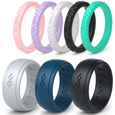Rinfit Rubber Wedding Bands For Men And Women 8 Ring Pack Walmart Com Rubber Wedding Band Rubber Rings Wedding Silicone Wedding Band