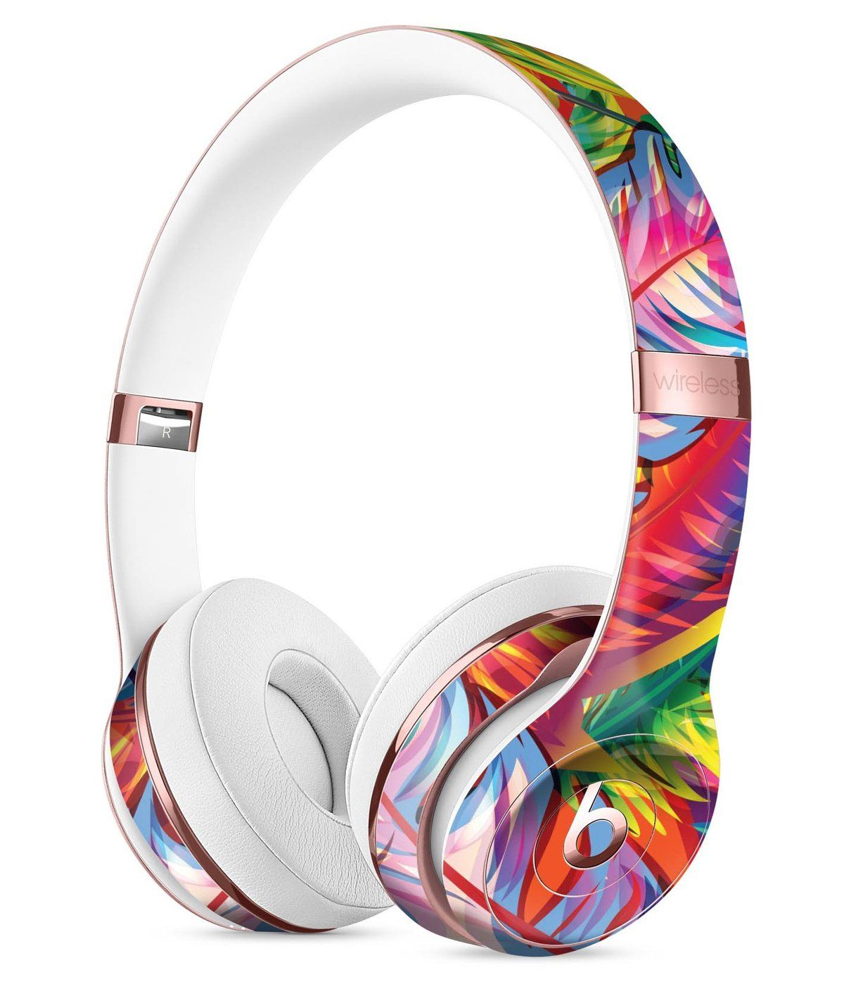 Vibrant Colorful Feathers Full Body Skin Kit For The Beats By Dre Solo 3 Wireless Headphones Wireless Headphones Cute Headphones Beats Headphones Wireless