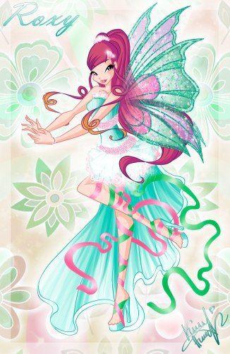 Winx Club Kleurplaten Roxy.Winx Club Roxy Dress Roxy Harmonix The Winx Club Fan Art