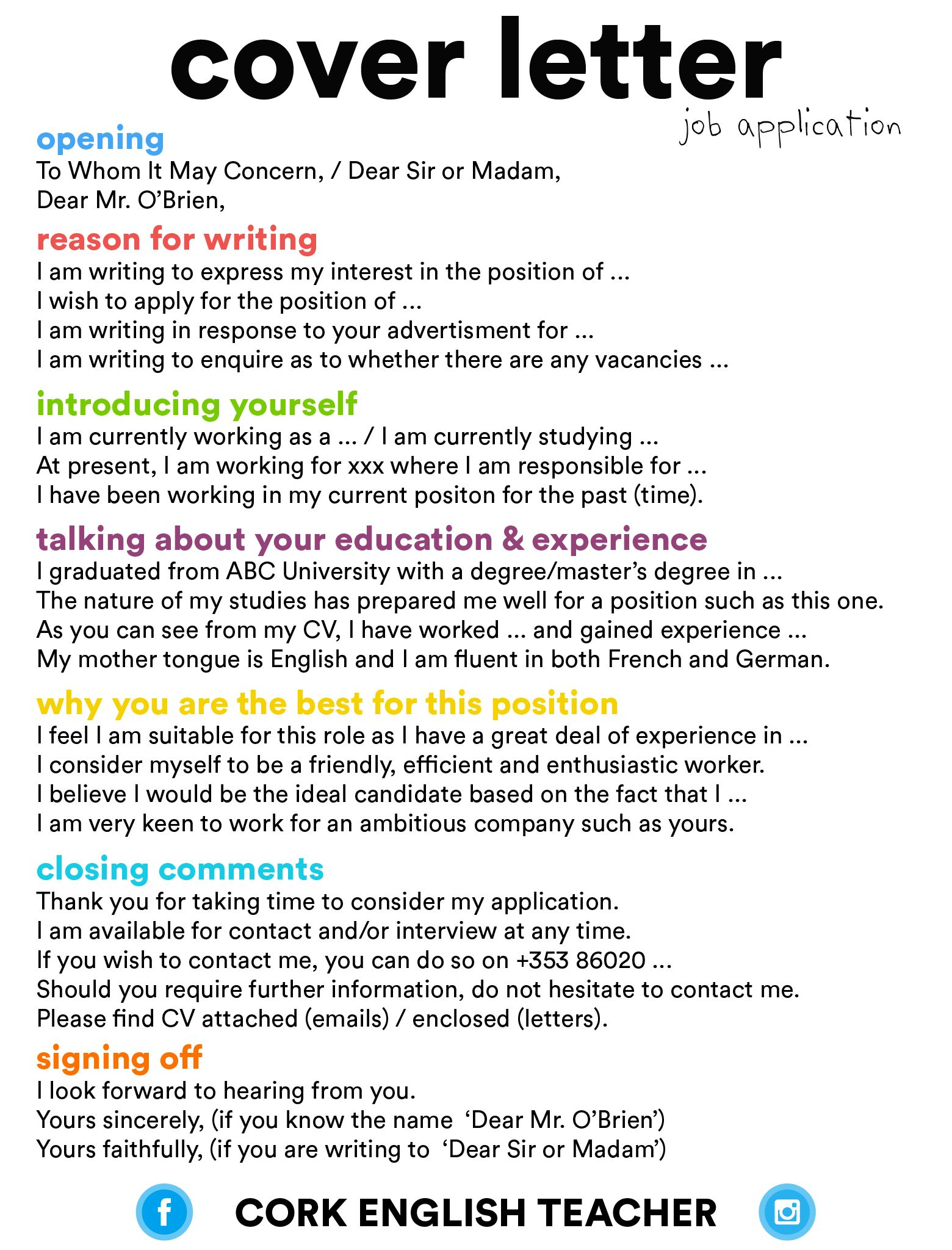 Difference Between Cover Letter And Cv from i.pinimg.com