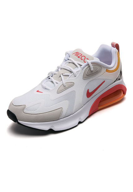 Tenis Lifestyle Blanco-Coral-Amarillo Nike Air Max 200 ...