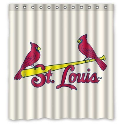 Cardinals Shower Curtains With Images St Louis Cardinals