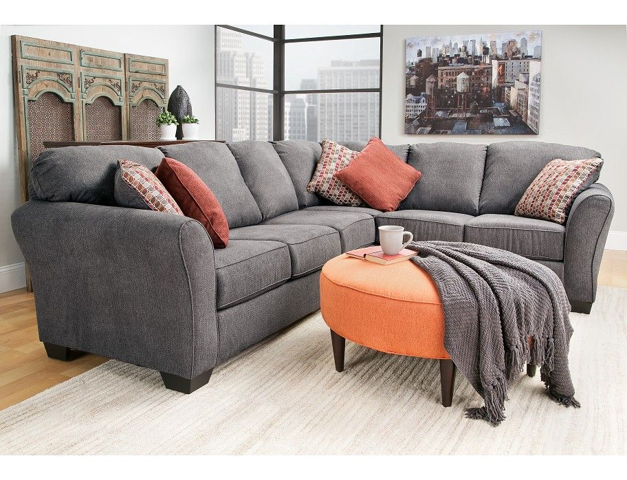 Slumberland Bergen Collection Steel 2pc Sectional Home Again