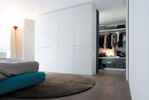 How To Design 80 Square Meter Apartment With Style | Shelterness - hidden wardrobe. k.