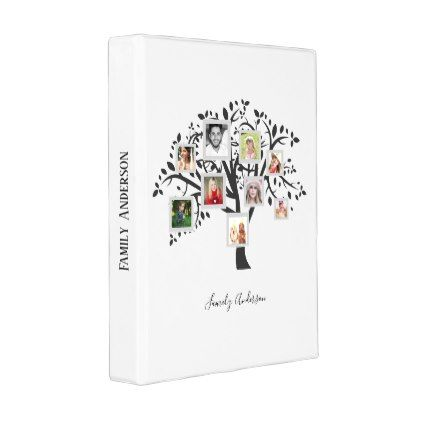 Photo Collage Family Tree Template Personalized Mini Binder