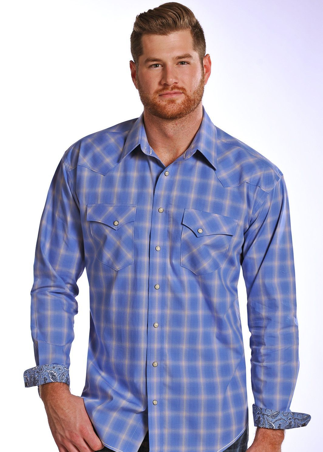 Flannel shirts at kohl's  Panhandle Slim Mens Snap Small Ombre Plaid Shirt RS  Products