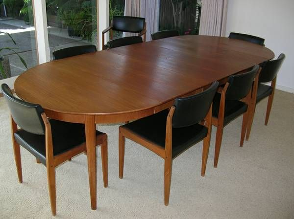 1960s Mid Century Modern Teak Dining Table + Chairs Bramin Danish