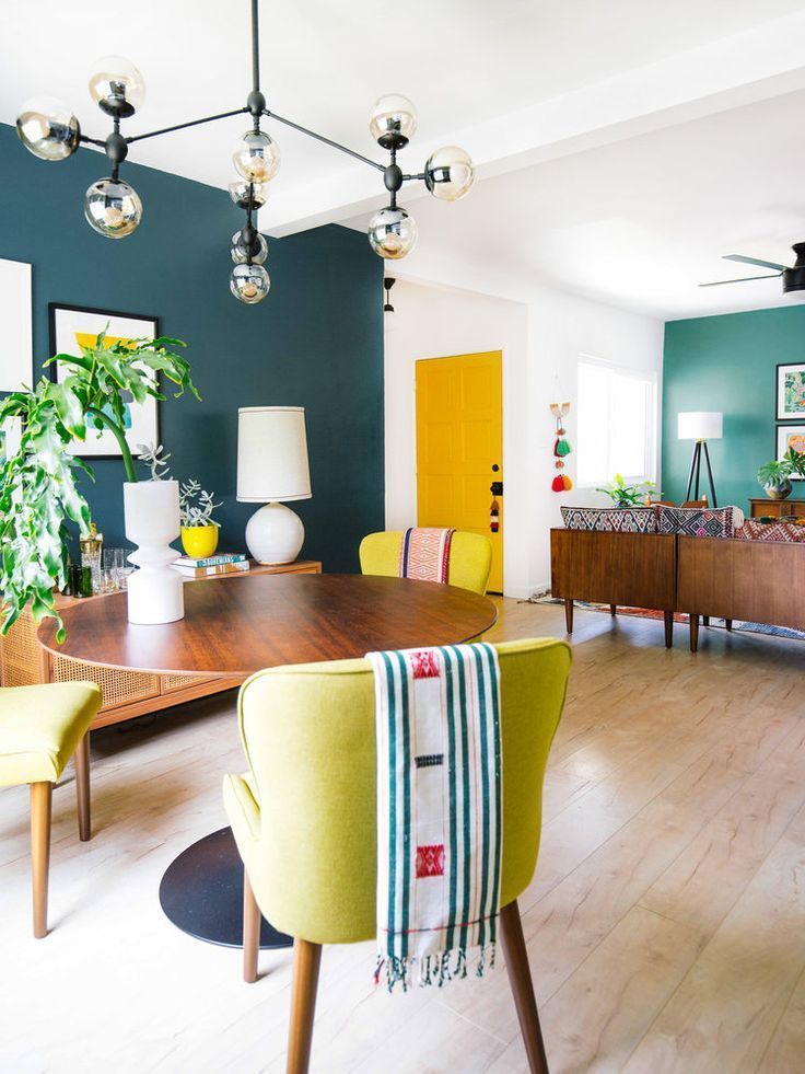How To Use Color In An Open Floor Plan Old Brand New Eclectic Living Room Colourful Living Room Mid Century Living Room