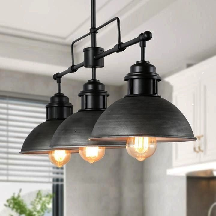 PendantcageMini Cage Pendantcage A dark themedindustrial kitchen designed by sit us markssonpost from industrialinterior Gorgeous 46 Attractive Industrial Kitchen Ideas T...