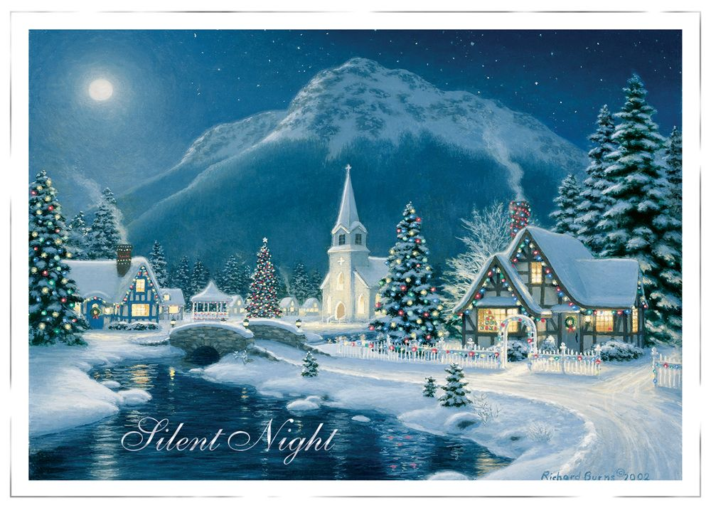 Personalized Business Holiday Greeting Cards - Mountain Village ...