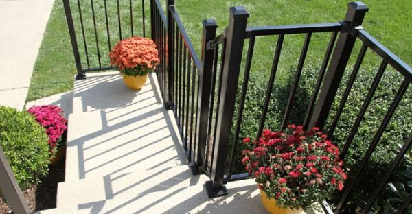 Railing Deck Lighting With Images Outdoor Stair Railing