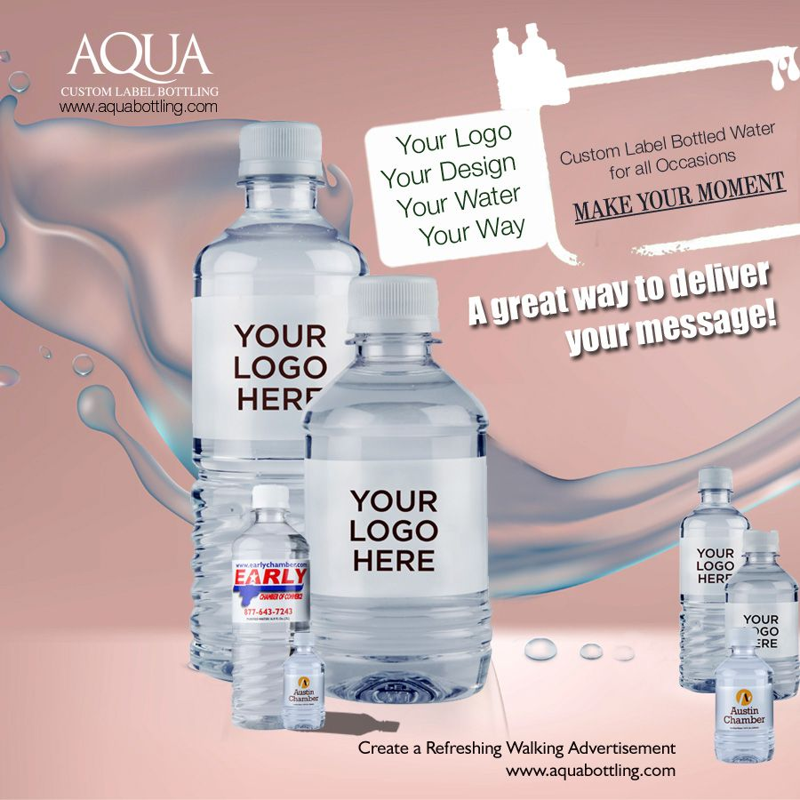 Bottled Water Suppliers In Houston Looking To Promote Your Business In A Unique Way Then Go For The Water Bott Bottle Bottle Labels Bottled Water Delivery