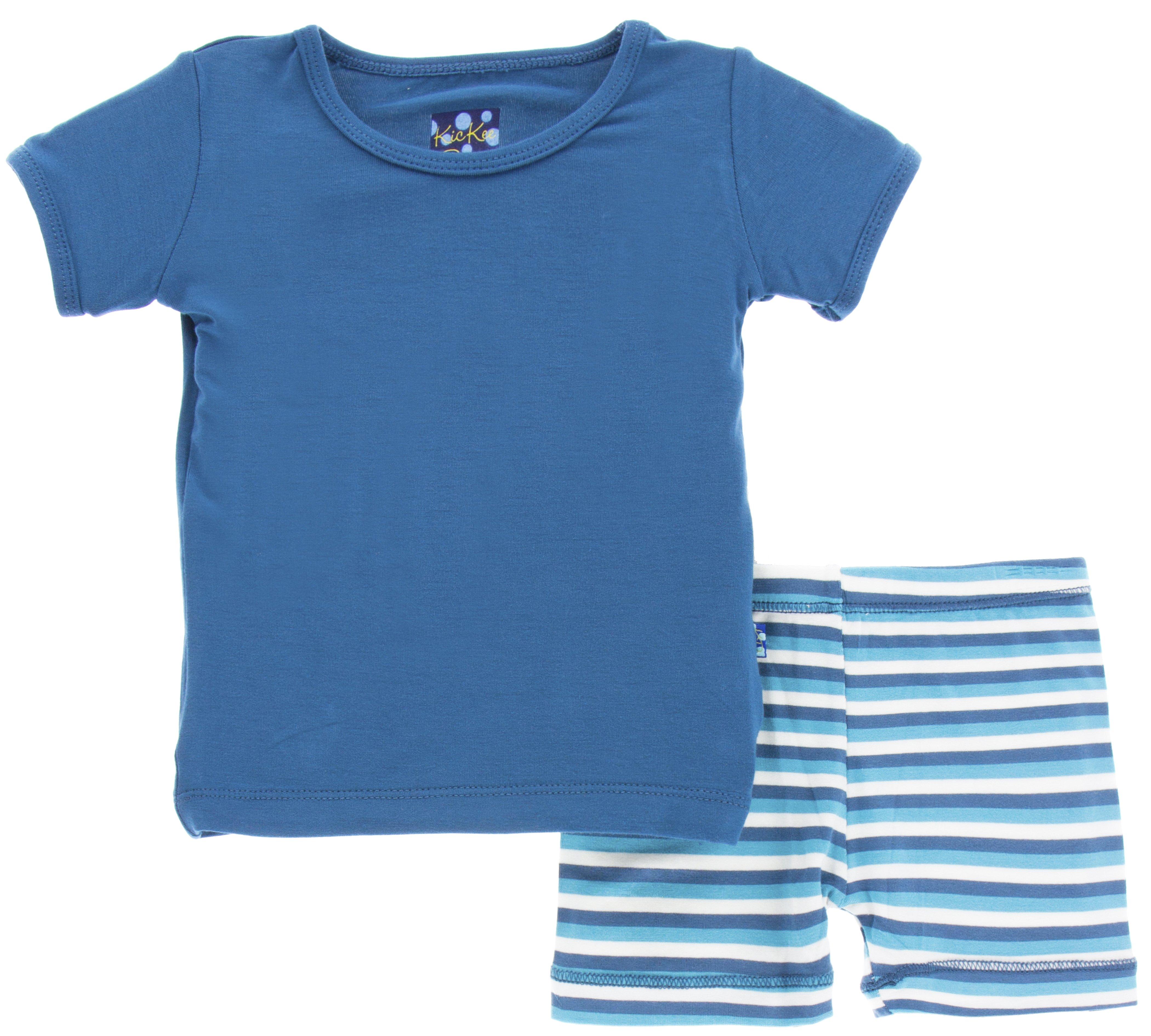 88fcd083637 KicKee Pants Confetti Anniversary Stripe Short Sleeve Pajama Set with Shorts