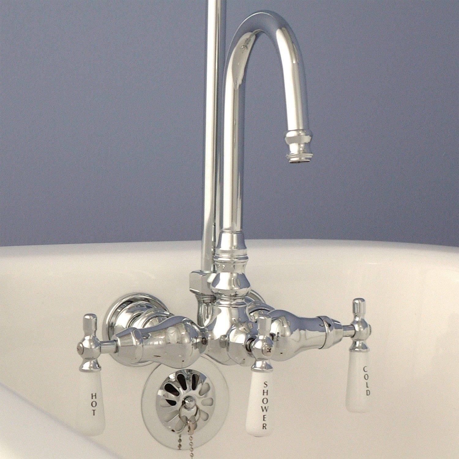 Gentil Unique Clawfoot Tub Faucets With Shower Diverter