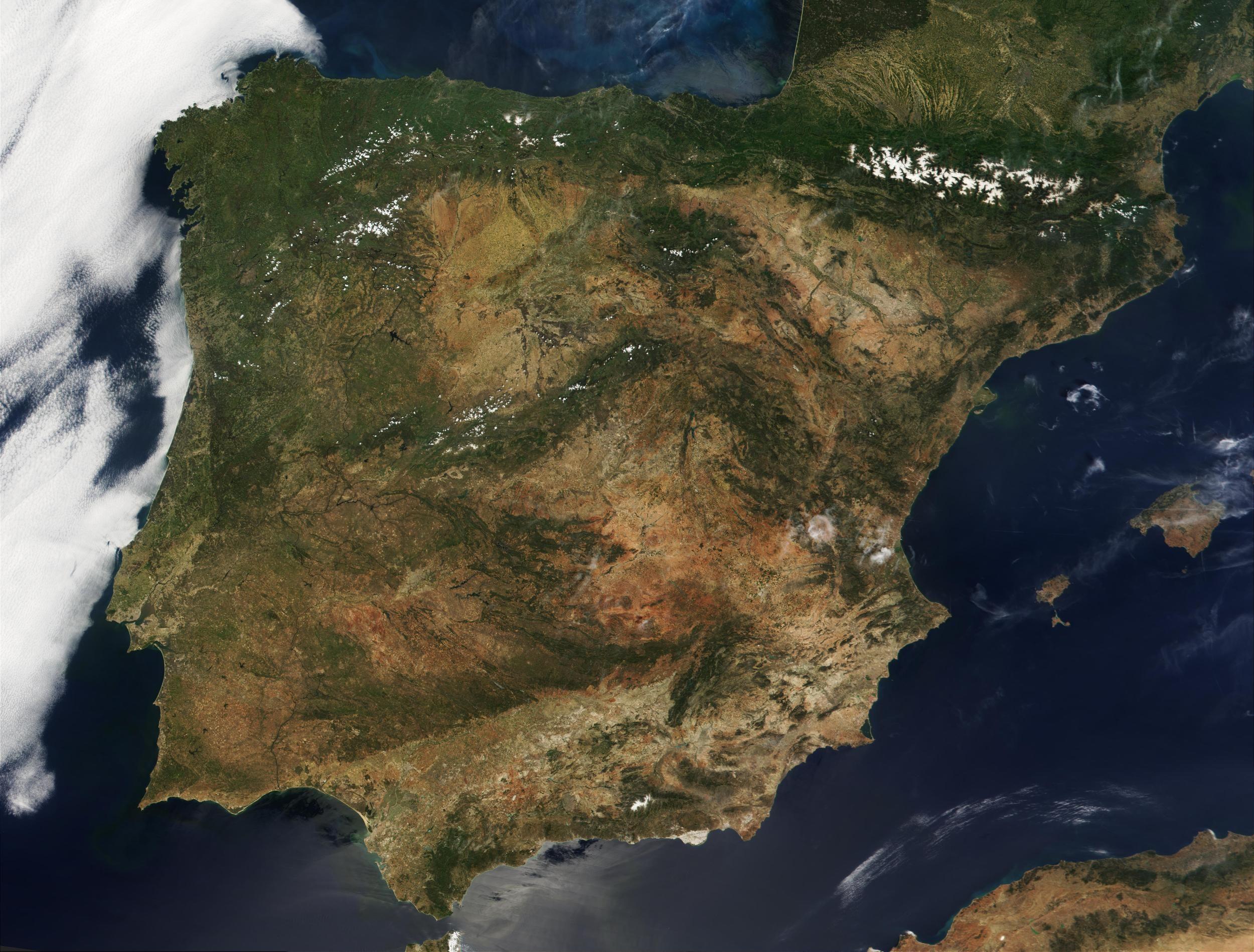 mapa de portugal visto por satelite Satellite Image, Photo of Portugal and Spain | CTF Space | Pinterest mapa de portugal visto por satelite