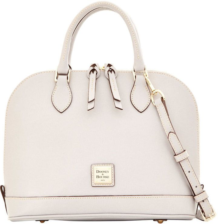 Adore the color of this Dooney & Bourke Saffiano satchel on ShopStyle!