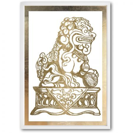 Foo Dog Gold II by Julianne Taylor - The Oliver Gal Artist Co