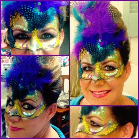 Mardi Gras painted mask #mardigrasmakeup #masquerade #mardigras