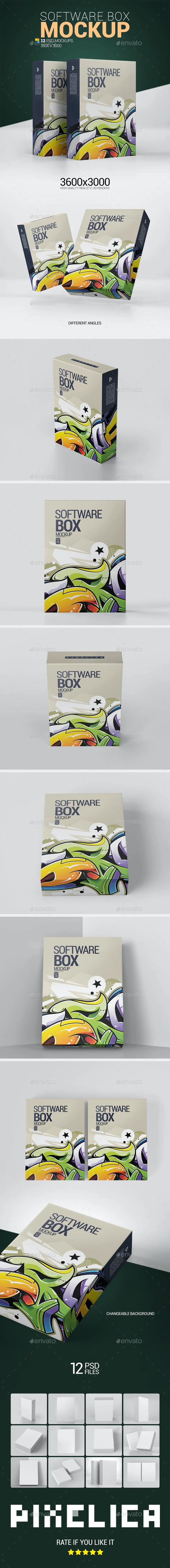 4134+ Box Mockup Graphicriver PSD File